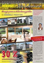 Energie sparen & Wohnräume gestalten FENSTER - Schreinerei Krist