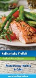Kulinarische Vielfalt in den Hüttener Bergen