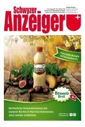Schwyzer Anzeiger – Woche 40 – 2. Oktober 2020