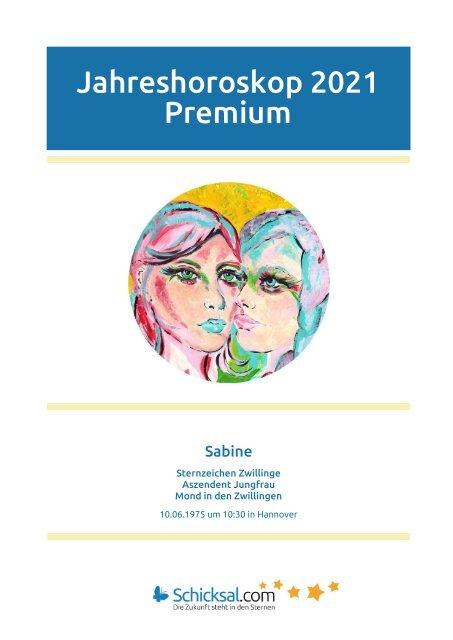 Jahreshoroskop 2021 Premium