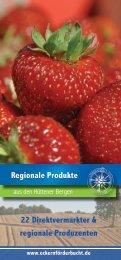 Regionale Produkte in den Hüttener Bergen