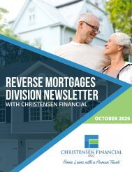 Reverse Mortgages Division Newsletter - October 2020
