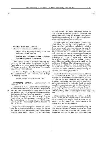 Auzug 115. Sitzung Griechenland ZTOP 17 (PDF | 2 - Deutscher ...