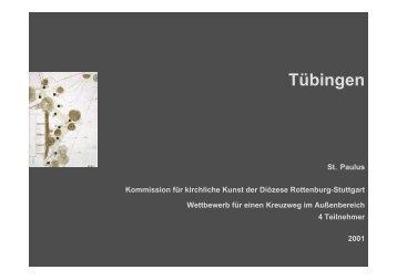 Kath. KG Tübingen, St. Paulus, Neugestaltung eines Kreuzweges