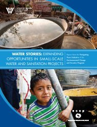 WATER STORIES: EXPANDING OPPORTUNITIES IN SMALL ...