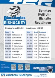 Spielplan Eishockey Black Eagles LL 20_21