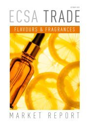 ECSA Trade Flavours and Fragrances   Market report preview 10.2020