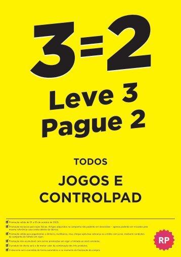 Leve 3 Pague 2 - Todos os jogos e controlpad