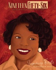 Nineteen Fifty-Six Vol. 1 No. 1 Inspiring Firsts