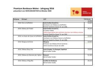 Premium-Bordeaux Weine JG 2016
