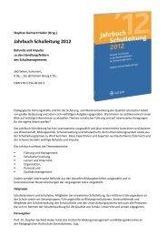 Jahrbuch Schulleitung 2012 - Institut für Bildungsmanagement und ...