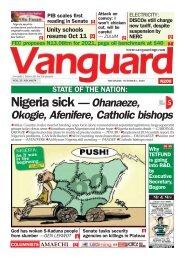 01102020 - Nigeria sick — Ohanaeze, 5 Okogie, Afenifere, Catholic bishops