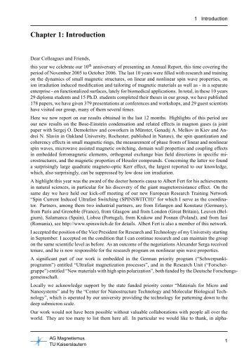 Chapter 1 - Fachbereich Physik der Universität Kaiserslautern