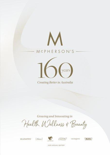 McPherson's 2020 Annual Report