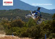 2021 YAMAHA OFFROAD COMPETITION