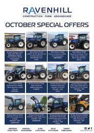 Ravenhill October Featured Machines