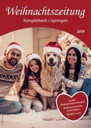 Weihnachtszeitung Kaempfelbach Ispringen 2019