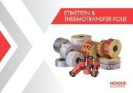 Etiketten und Thermotransfer-Folie Broschüre