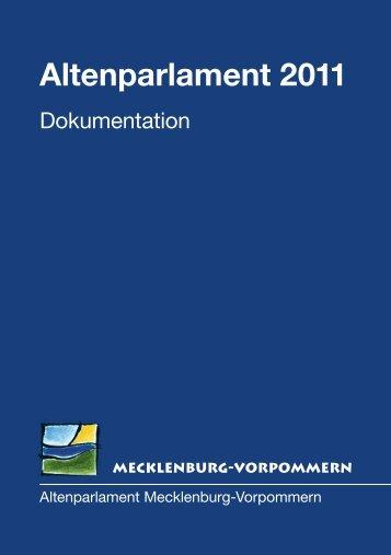 Altenparlament 2011 - Landtag Mecklenburg Vorpommern