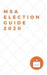 MSA Election Guide 2020