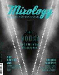 MIXOLOGY ISSUE #99 – V wie Vodka