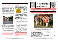 steinfurter argumente - SPD Steinfurt