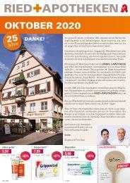 Angebote der RIED + APOTHEKEN, Ulm & Neu-Ulm - 5.- 31. Oktober 2020