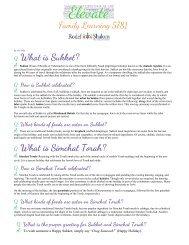 Sukkot_Simchat Torah Family Activities 5781
