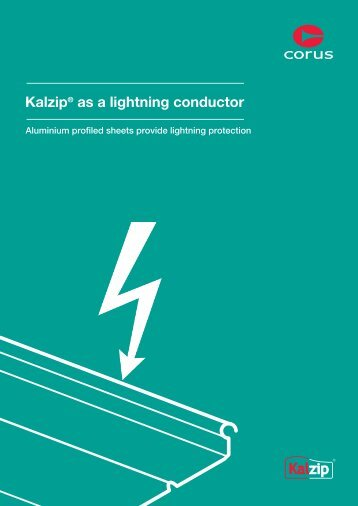Lightning conducting and protective screening of buildings - Kalzip