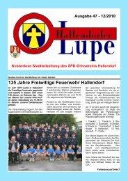 135 Jahre Freiwillige Feuerwehr Hallendorf - SPD Hallendorf