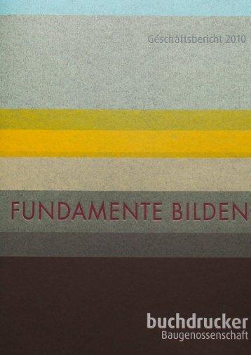Fundamente bilden - Baugenossenschaft der Buchdrucker eG