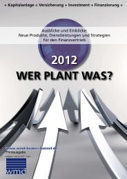 Wer plant was 2012? - WMD Brokerchannel