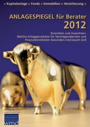 Anlagespiegel 2012 - SensitivMarketing - michael MARTIN-LECK