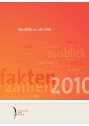 inhalte, andere Werte und Selbstwerte gibt - Alternative Bank Schweiz