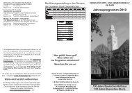 Geschichte und mehr 2012 - Verein für Orts