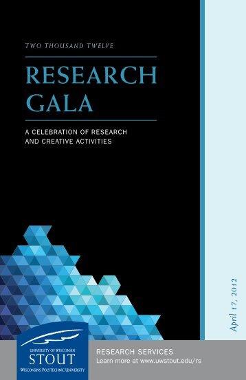 ReseaRch GaLa - University of Wisconsin-Stout