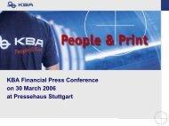 Presentation Analysts' Conference - KBA