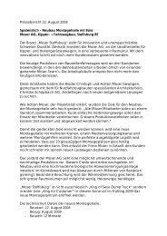 Pressebericht 22. August 2008 Spatenstich - Neubau Montagehalle ...
