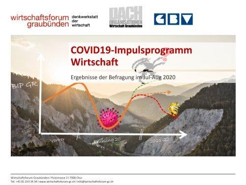 COVID19-Impulsprogramm Wirtschaft