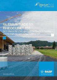 GLENIUM® ACE 30 RHEOCURE® 100 - Admixture Systems Schweiz