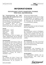 Zeitplan Sonntag - SG Dortmund