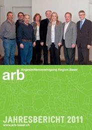 jAHRESBERICHT 2011 - Angestelltenvereinigung Region Basel