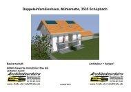 Doppeleinfamilienhaus, Mühlematte, 3535 Schüpbach
