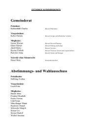 Gemeinderat Abstimmungs- und Wahlausschuss