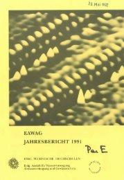 jahresbericht 1991 - Eawag-Empa Library / Empa-Eawag Bibliothek