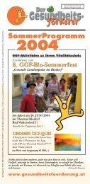 Sommerprogramm 2004 - GGF