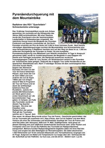 Pyrenäendurchquerung mit dem Mountainbike - RSV Querfeldein ...