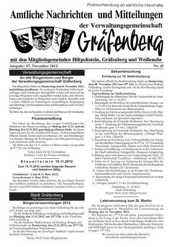 Amtsblatt Ausgabe 45/2012 - Hiltpoltstein