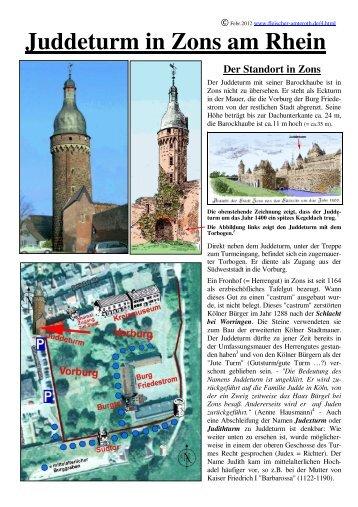 Der Juddeturm in Zons am Rhein - Fleischer-Amteroth.de