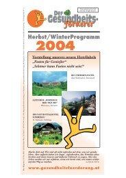 Herbst/WinterProgramm 2004 - GGF